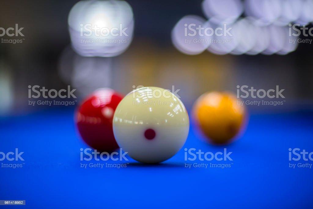 Billiards, billiard table. Balls on the billiard table. - fotografia de stock