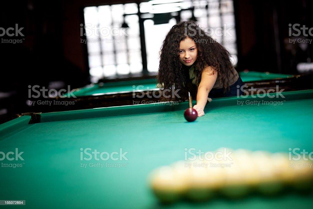 Billiards game royalty-free stock photo