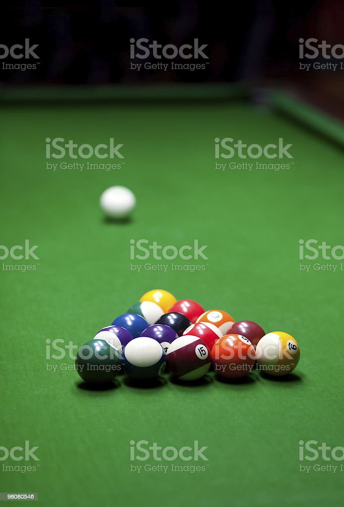 billiards game royalty-free stock photo