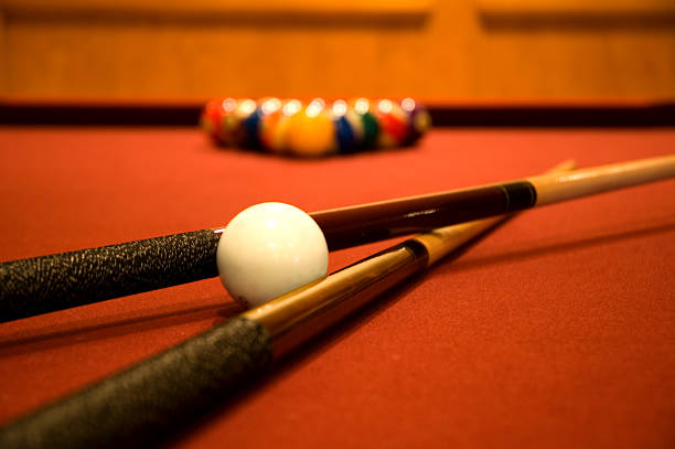 billiards - pool cue stock photos and pictures