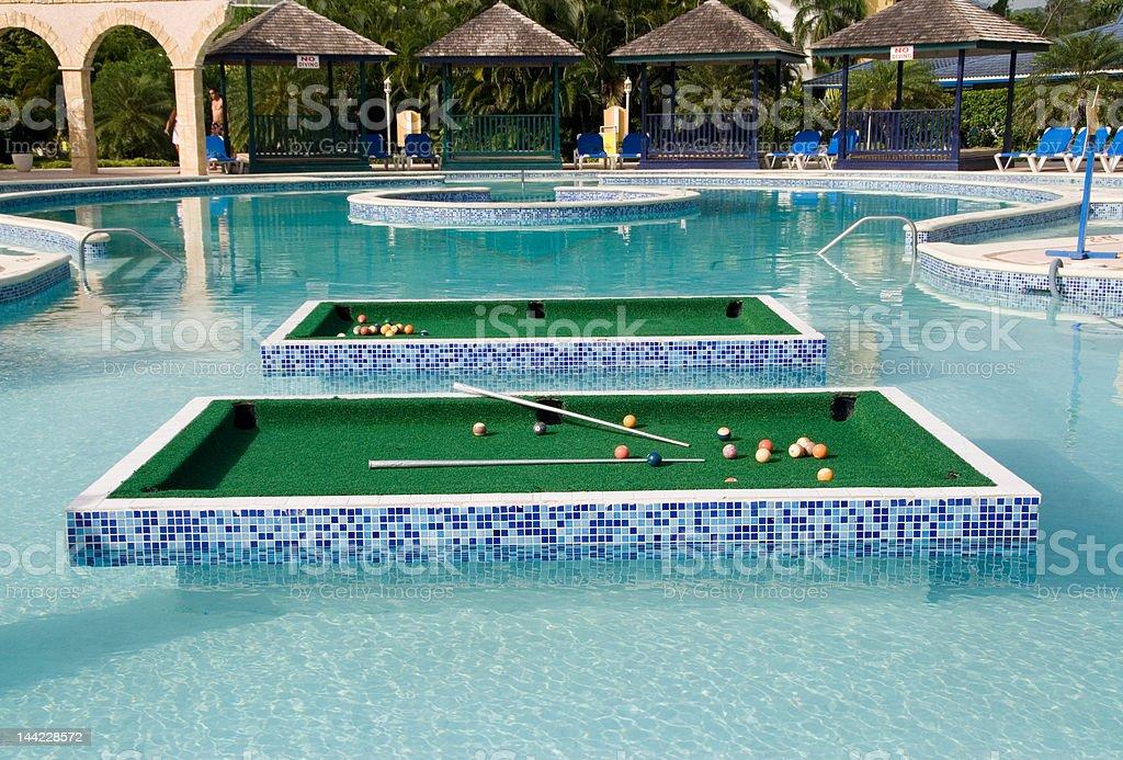 Billar de la piscina - foto de stock