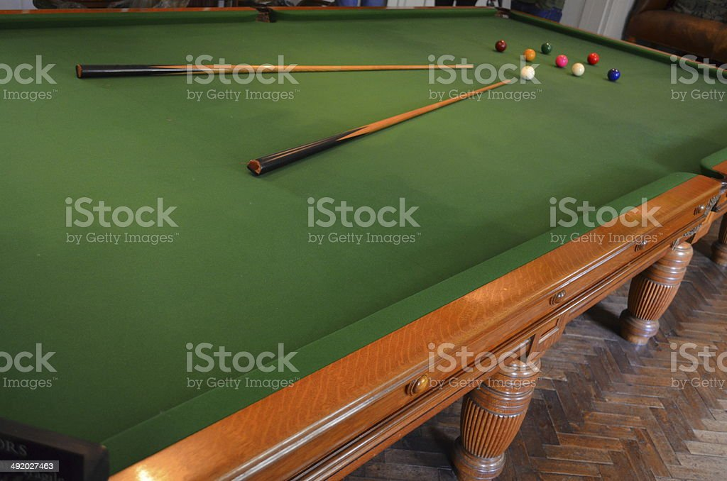 Billiards room. stock photo