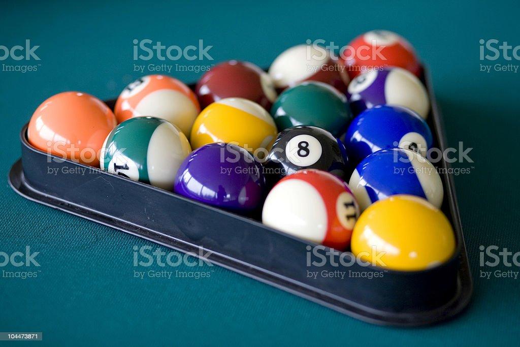 Billiards Triangle 2 royalty-free stock photo