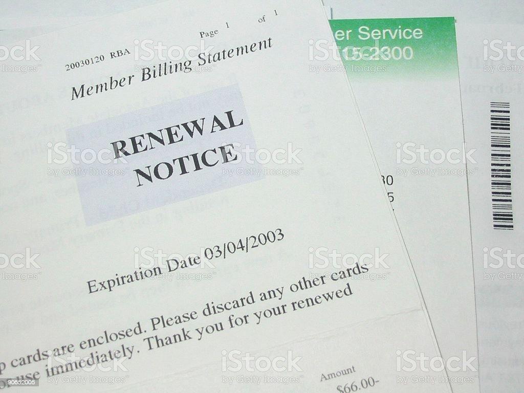 Billing Statement royalty-free stock photo