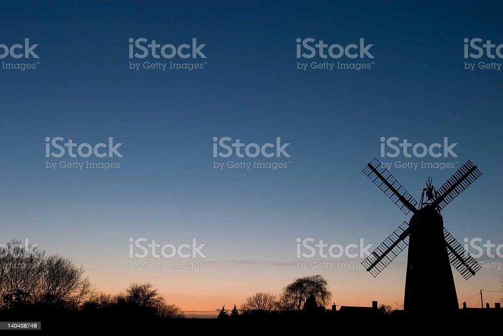 Billingford mill sunset stock photo