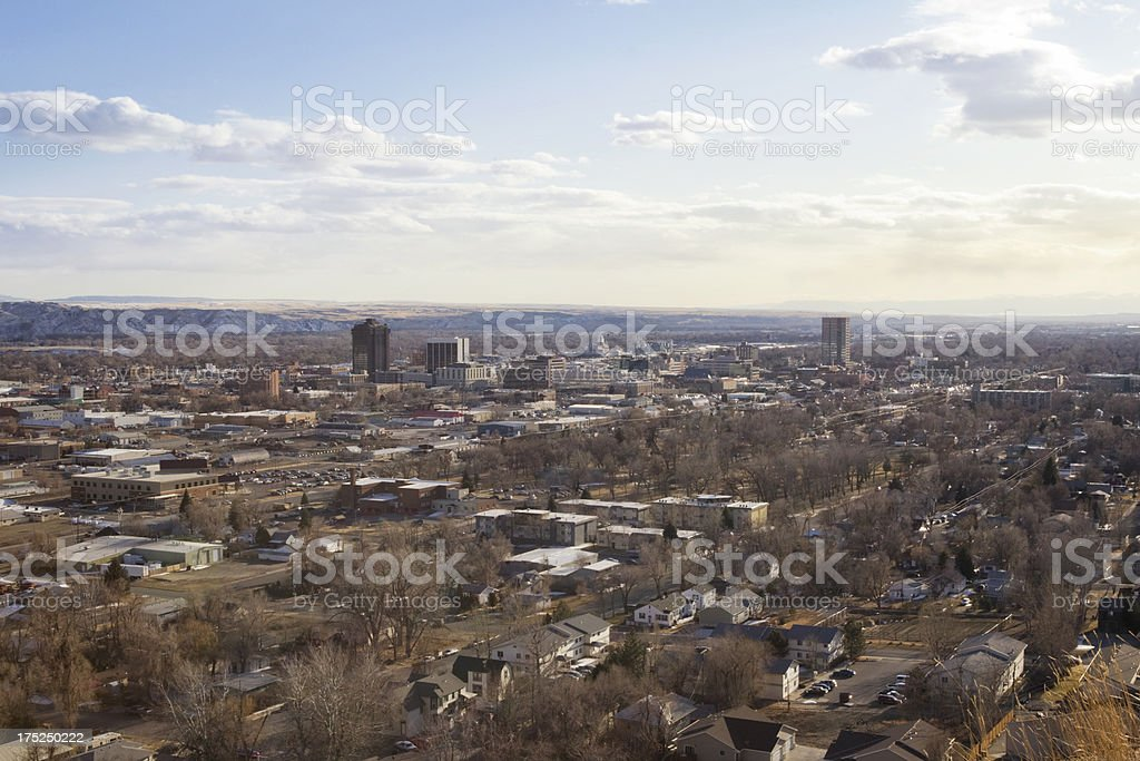 Billings, Montana Cityscape stock photo