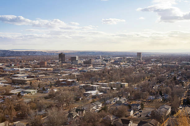 Billings, Montana Cityscape stock photo