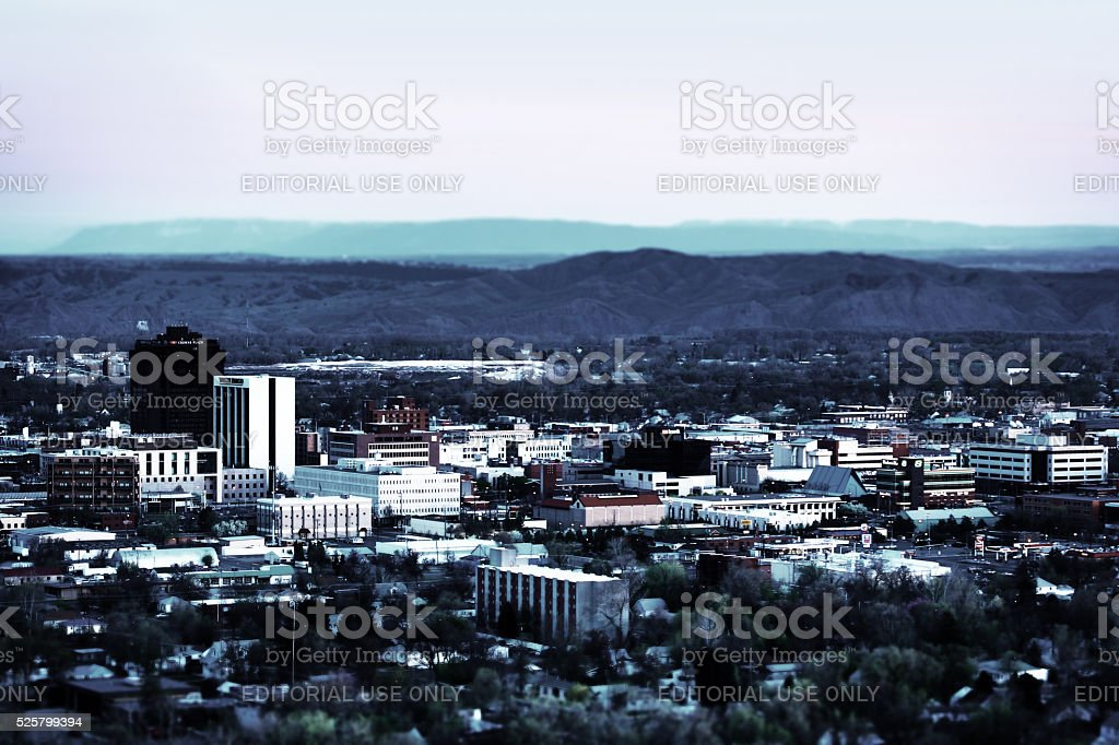 Billings Montana stock photo