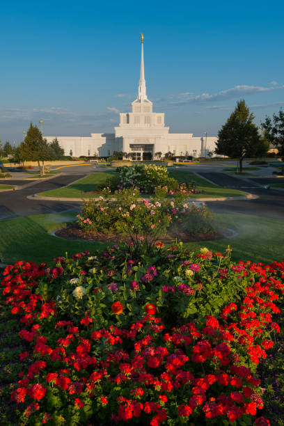 Billings Montana Temple stock photo