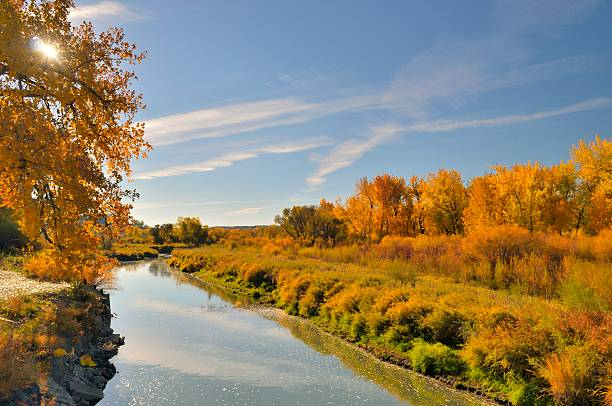 Billings Riverfront Park River stock photo