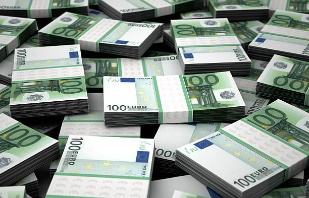 Billion Euros stock photo
