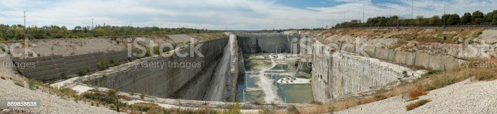 9 Billion Gallon McCook Illinois Water Storage Reservoir Facility of the Metropolitan Water Reclamation District stock photo