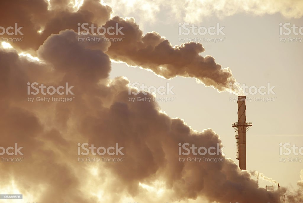 Billowing Brown Pollution royalty-free stock photo