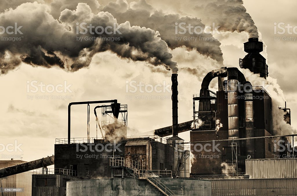 Billowing la contaminación foto de stock libre de derechos