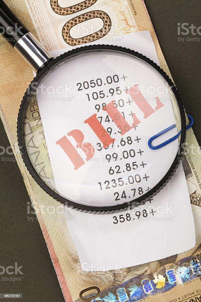 bills and canadian dollars royalty-free stock photo