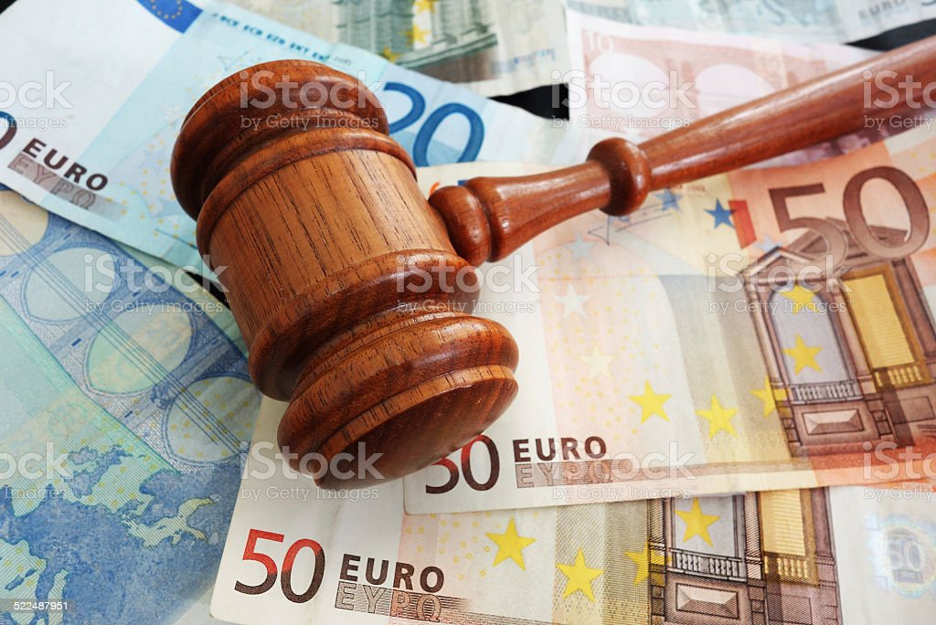 Bills and Euros stock photo