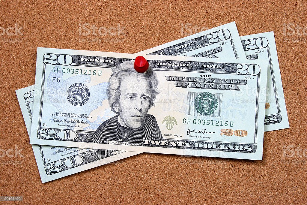 Bills on board royalty-free stock photo