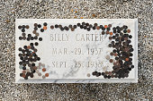 Plains, Georgia, USA - November 12, 2016: Billy Carter (brother of President Jimmy Carter) grave at the Lebanon Cemetery in Plains