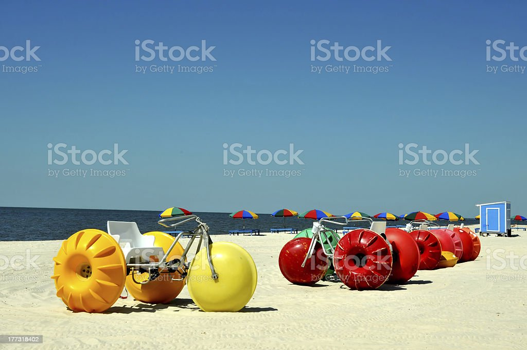 Biloxi Beach stock photo