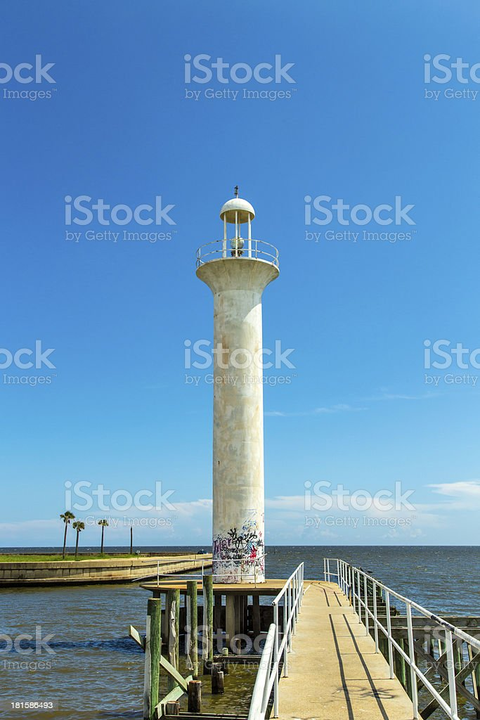 Biloxi Lighthouse in Mississippi, USA. stock photo