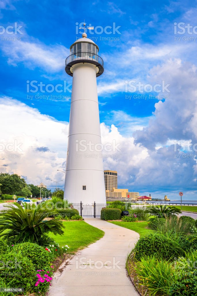Biloxi Lighthouse stock photo