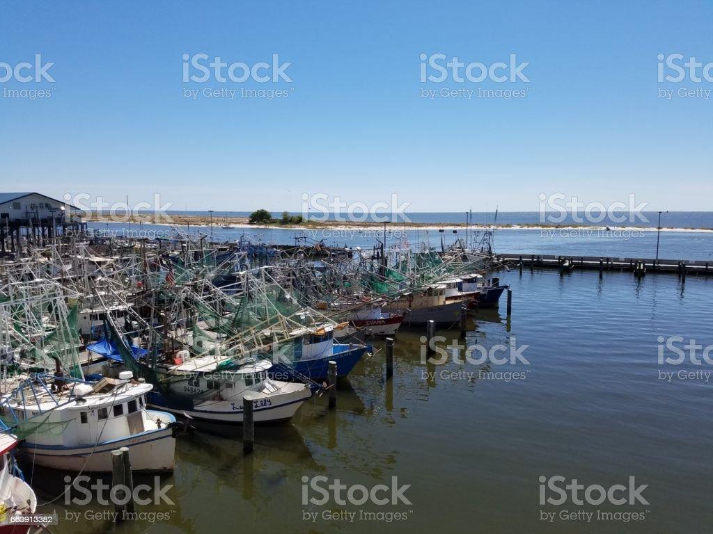 Biloxi Marina stock photo