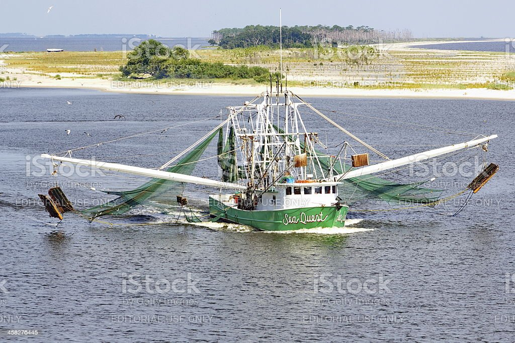 Biloxi Mississippi Commercial Shrimp Boat stock photo