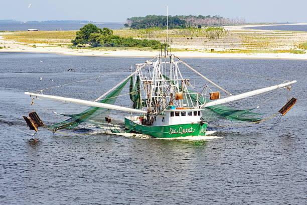 Biloxi Mississippi Commercial Shrimp Boat stock photo