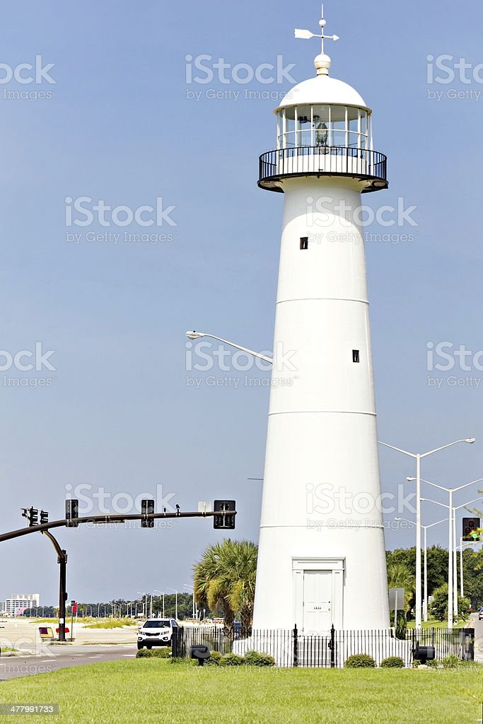 Biloxi, Mississippi,  Lighthouse stock photo