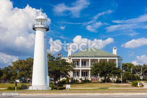 Biloxi Lighthouse In Mississippi Usa 108929900 Image