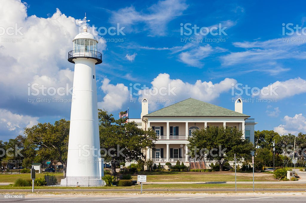 Biloxi, Mississippi Lighthouse stock photo