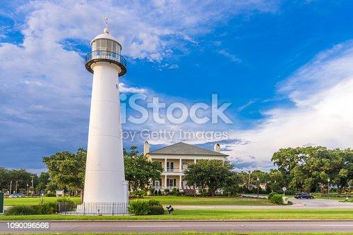 Biloxi, Mississippi USA at Biloxi Lighthouse and visitor center.
