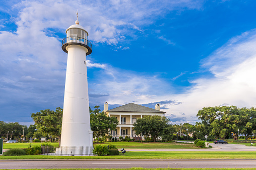 Biloxi Mississippi Usa At Biloxi Lighthouse Stock Photo Download
