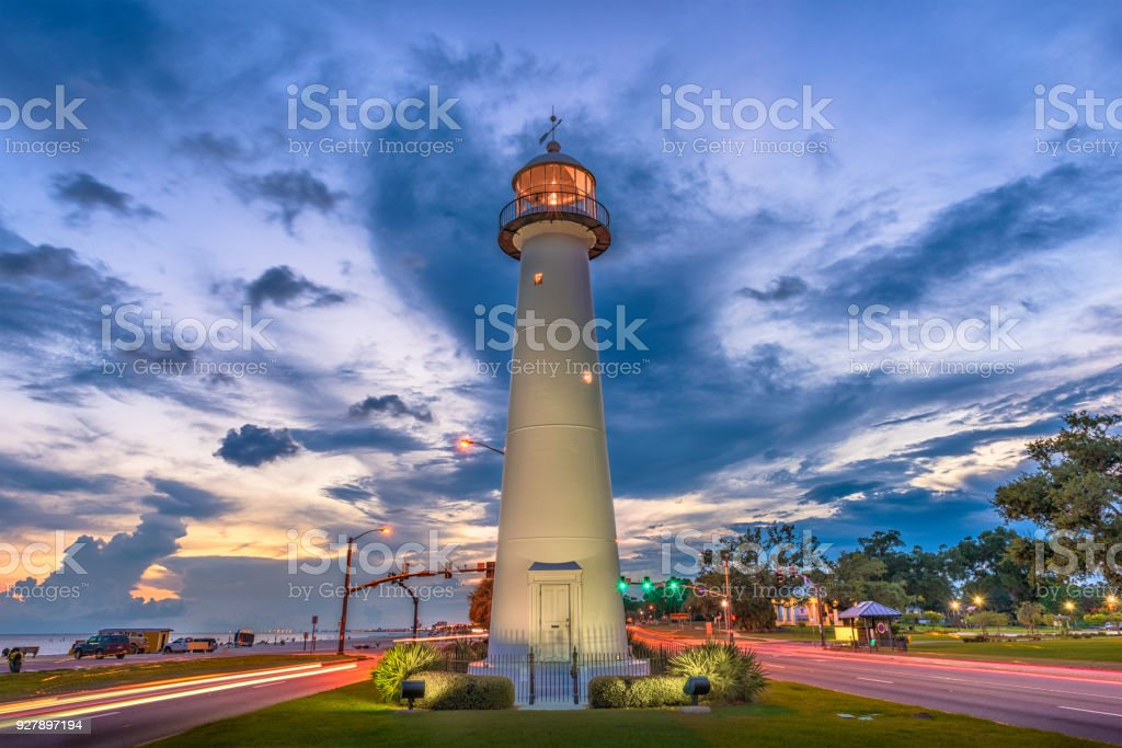 Biloxi, Mississippi, USA Lighthouse stock photo