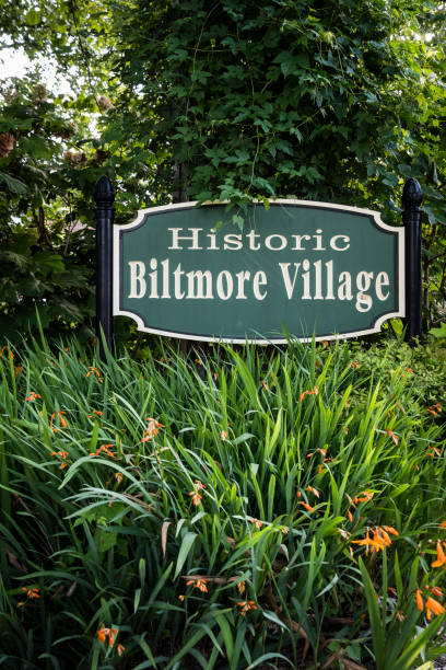Biltmore Village Sign stock photo