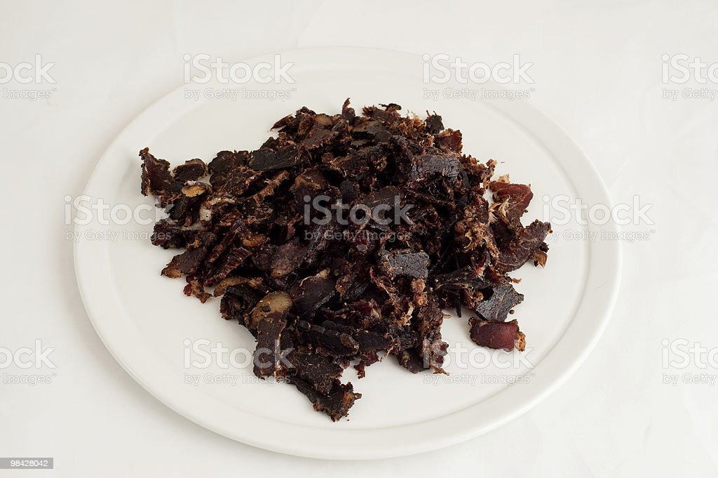 Biltong - dried meat royalty-free stock photo