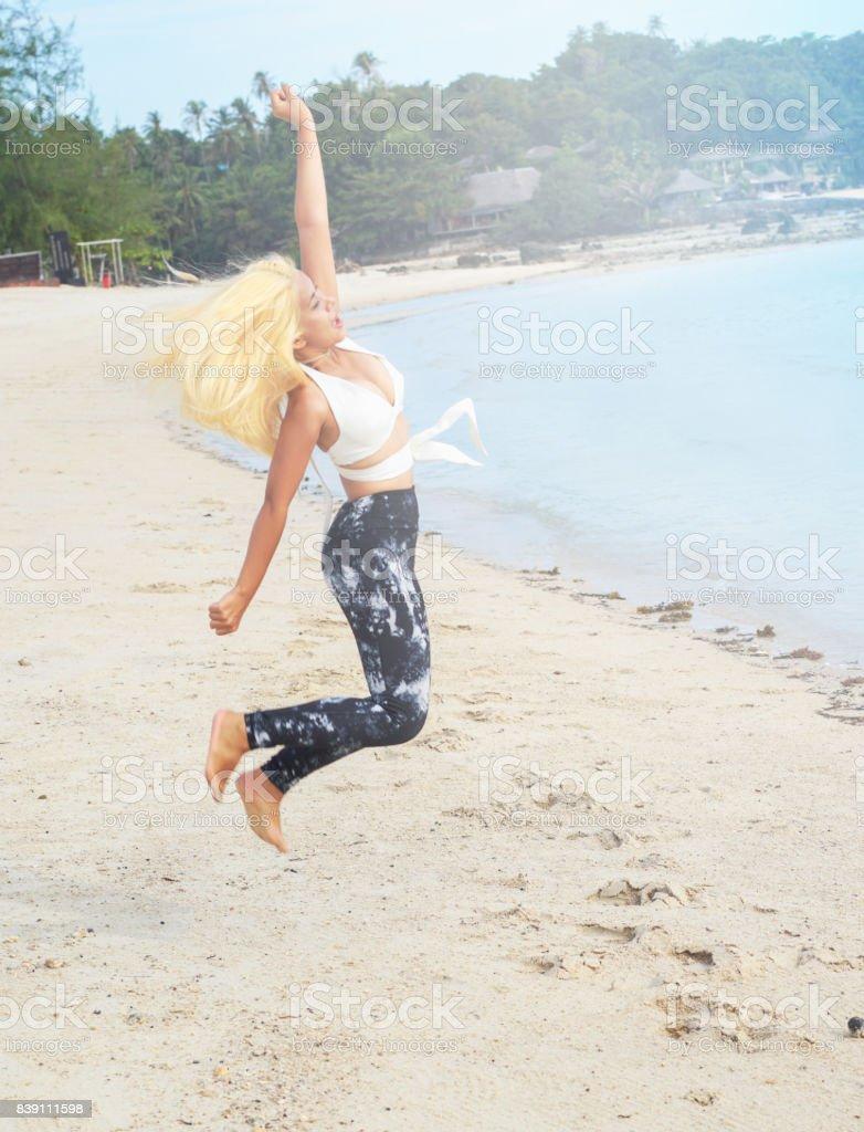 Bim jumping stock photo