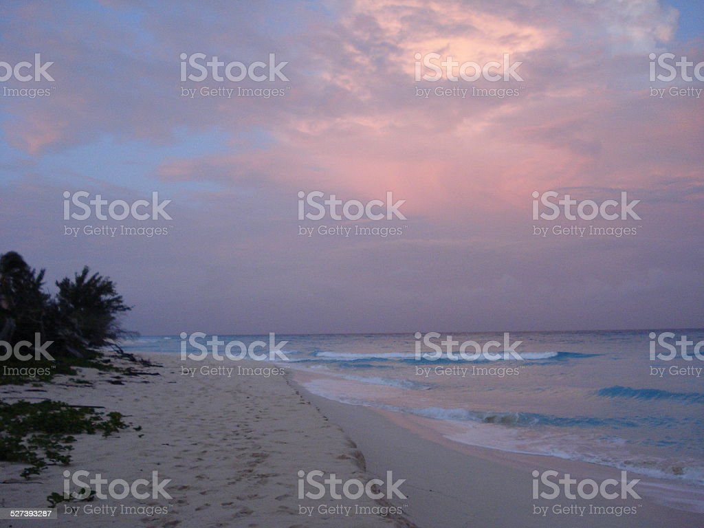 Bimini Beach at Dusk stock photo
