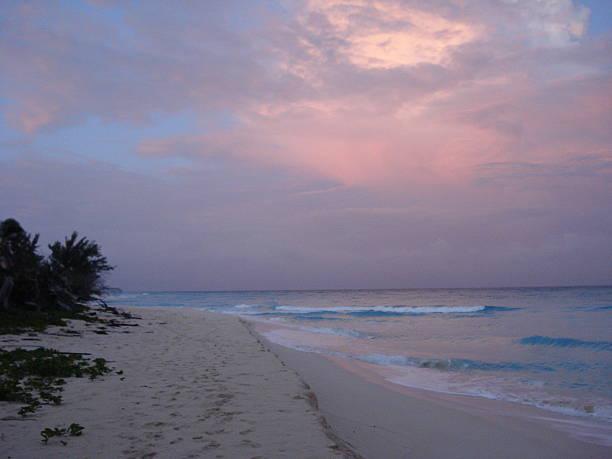 Bimini Beach at Dusk stock photo