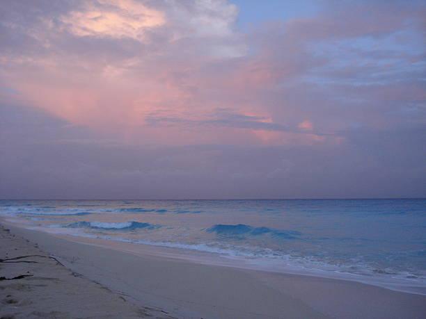 Bimini Beach in Pink stock photo