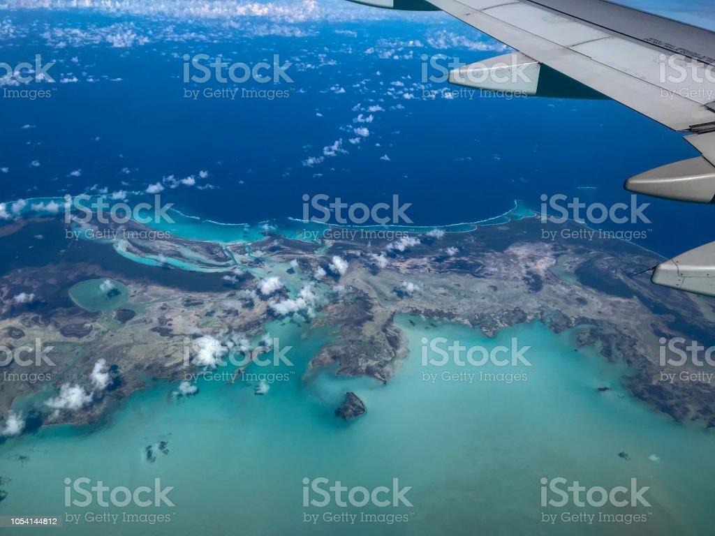 Bimini from plane stock photo