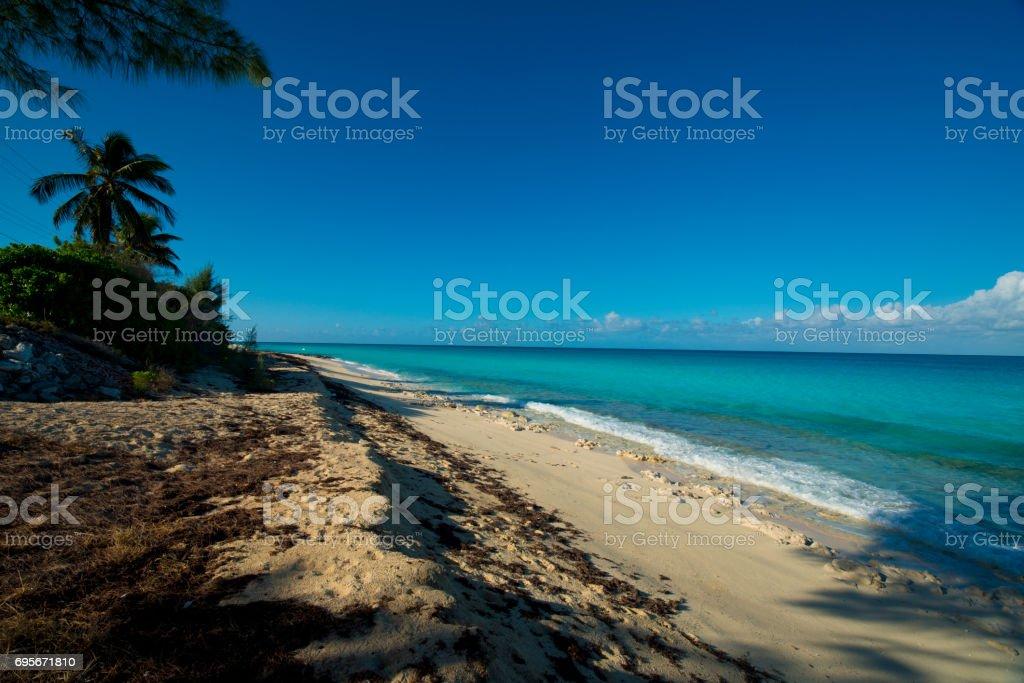 Bimini Island beach stock photo