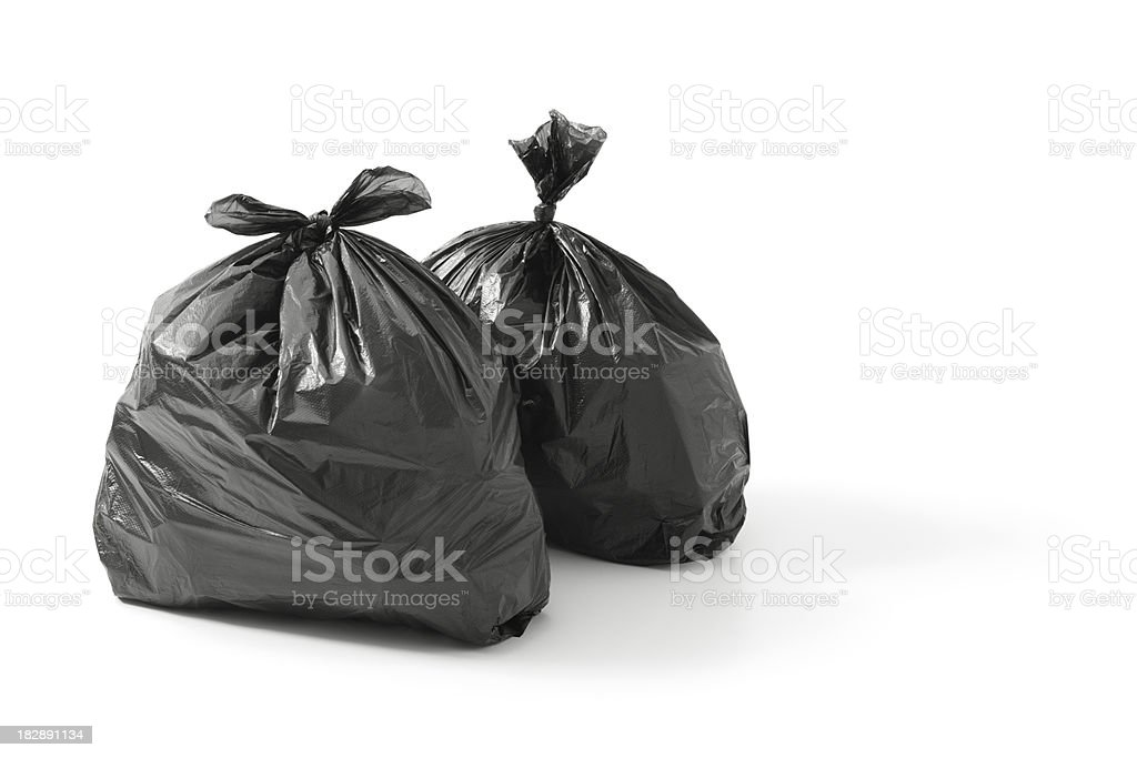 bin bags stock photo