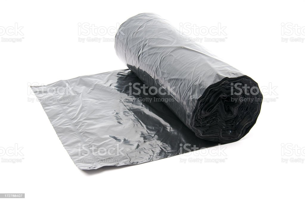 Bin bags roll royalty-free stock photo