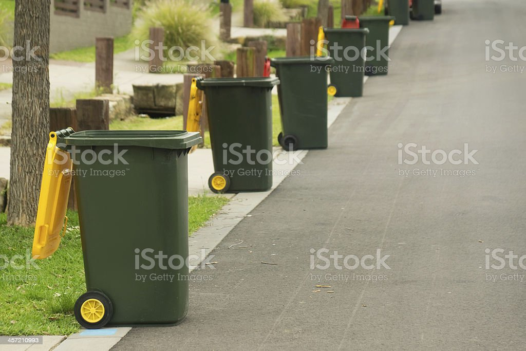 Bin Collection Day in Australia stock photo