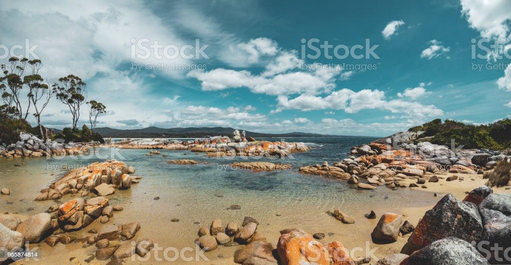 Binalong Bay, Bay of Fires, Tasmania stock photo