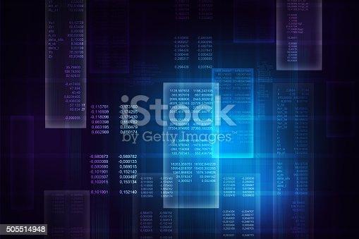 istock Binary blue computer code 505514948