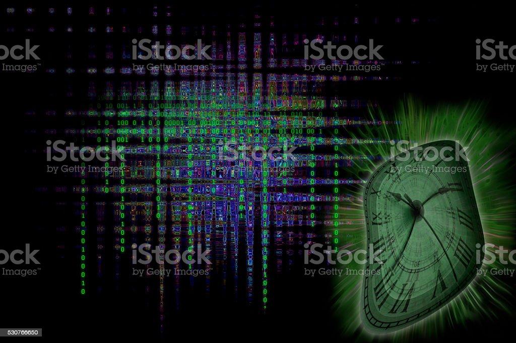 Binary Clock stock photo