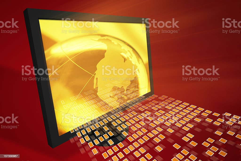 Binary Code Abstract royalty-free stock photo