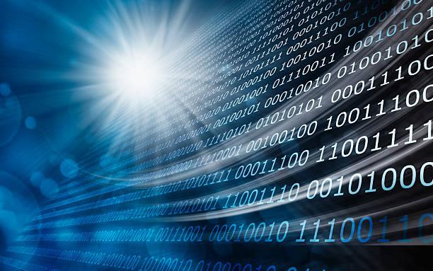 Binary code background stock photo
